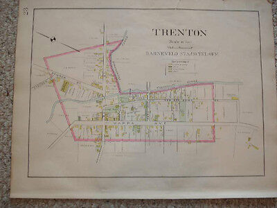 1907 Trenton Oneida County New York Antique Handclr Map