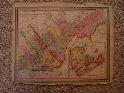 Antique Cowperthwaite Map Canada Nova Scotia Quebec Nr