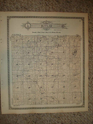 Butler Township Branch County Michigan Antique Map Nr
