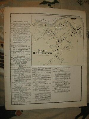 1871 East Rochester Strafford County New Hampshire Map