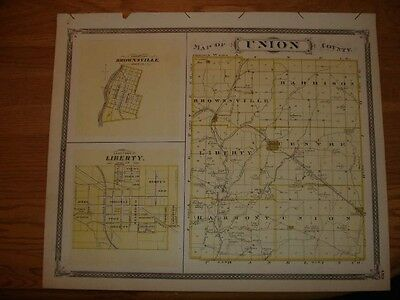 Franklin Union County Liberty Brookville Indiana Map Nr