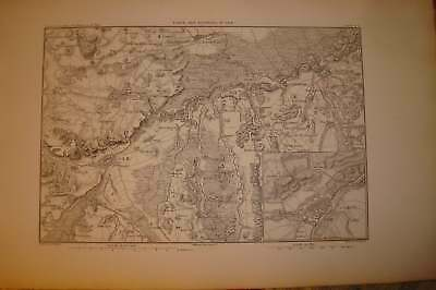1859 Antique Map Battle Of Messkirch Germany Napoleon N