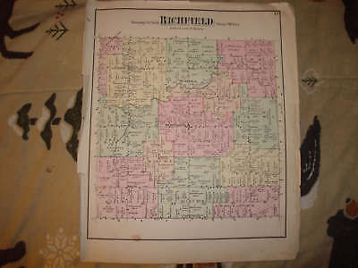 Richfield Township Genesee County Michigan Antique Map