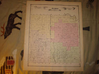 Albee Township Saginaw County Michigan Antique Map Nr