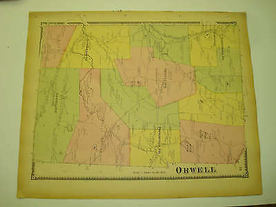 Orwell Township Russellville Pennsylvania Antique Map N