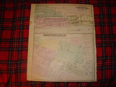 Shippenville Foxburg Pennsylvania Antique Handclr Map N