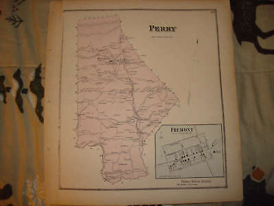 1868 Perry Township Snyder County Pennsylvania Map Nr