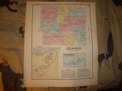 Jessup Township Susquehanna County Pennsylvania Map Nr
