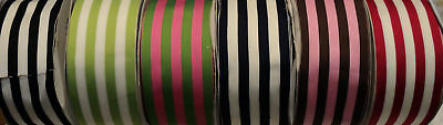 "2-1/2"" silky grosgrain stripe ribbon-6 colors to choose"