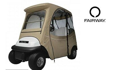Custom Golf Cart Enclosure Club Car Precedent 2 Person Khaki Tan Short Roof