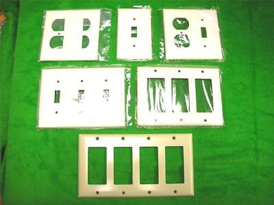 143 Pcs White Decor Wallplates Toggle Receptical Switch