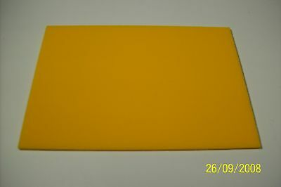 5mm  YELLOW ACRYLIC(PERSPEX) SHEET 210MM X 148MM(A5)