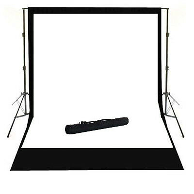9.5 x 12 ft Photography Black & White Backdrop Support System