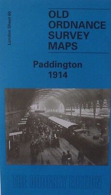 OLD ORDNANCE SURVEY DETAILED MAP PADDINGTON  NEAR West End  LONDON 1914 S60 New