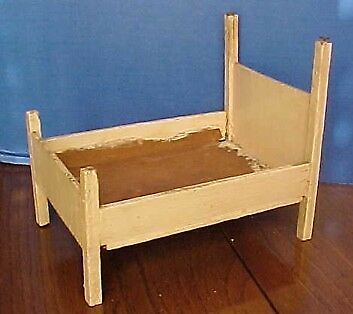 Vintage Wood Doll Or Dollhouse Bed