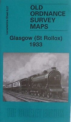 Old Ordnance Survey Detailed Map Scotland Glasgow St Rollox 1933