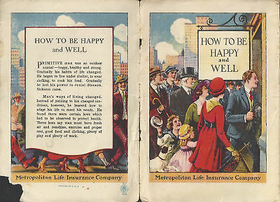 How to be Happy & Well pamphlet- older issued by Metropolitan Life insurance