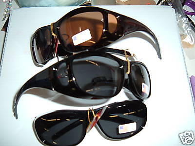 1 POLARIZED SUNGLASSES FIT OVER your glasses SELECT SMALL MED LARGE Sun Shields