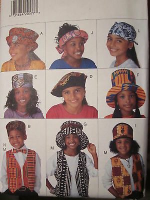 3788 Butterick Pattern Childrens Adorable Hats UNCUT SEWING 10 Styles Scarf OOP