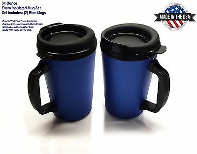Mugs Oz Blue Travel 34 Thermo Serv Insulated 2 Foam rCxQotshdB