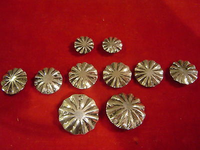 Conchos 10 Sterling Fluted (parachute) post & screw