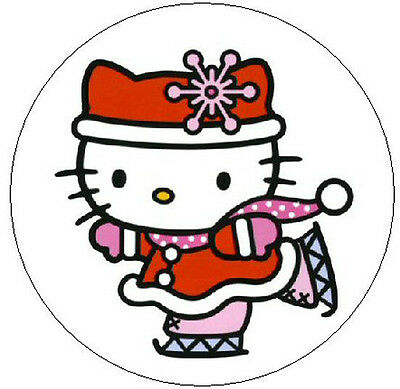 """~HELLO KITTY ICE SKATING~  1"""" Sticker / Seal Labels!"""