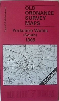 Old Ordnance Survey Map Yorkshire Wolds South & Map Market Weigton 1905 Sheet 72