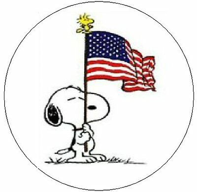 "~SNOOPY w/USA FLAG~  1"" Sticker / Seal Labels!"