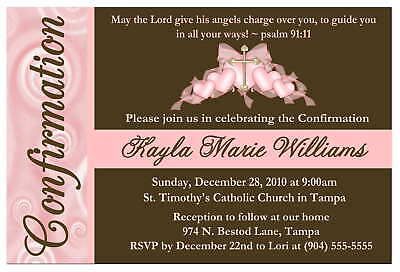 Personalized Confirmation Invitations