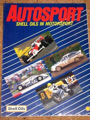 Autosport SHELL OILS in MOTORSPORT GUIDE 1987