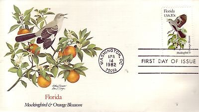 768+ FDC ENVELOPPE 1er JOUR USA MOCKINGBIRD / ORANGE
