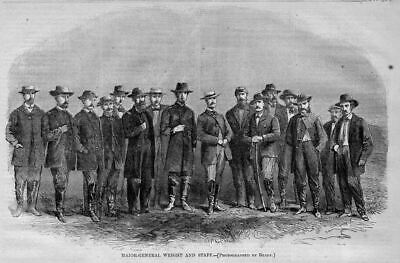 Civil War 1864 History, Major-General Wright And Staff