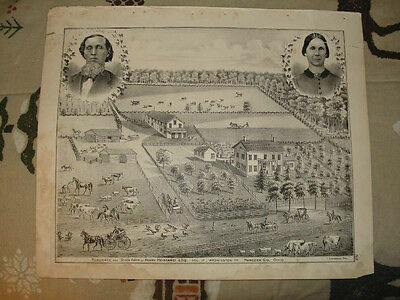 1875 WASHINGTON TOWNSHIP HANCOCK COUNTY OHIO PRINT NR