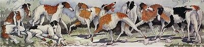 Enid Groves Borzoi Russian Wolfhound Print