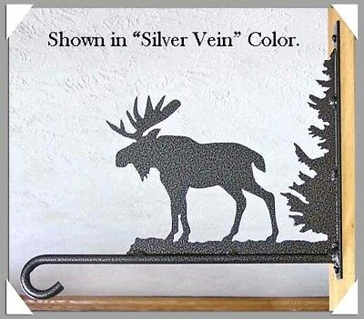 Moose Plant Hanger Hook Rustic Lodge Cabin Garden Metal Art Wall Decor USA Made