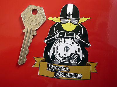 ROYAL ENFIELD CAFE RACER Yellow Scarf MOTORBIKE STICKER