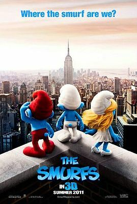 SMURFS- Original 2011 D/S Adv movie poster - KATY PERRY