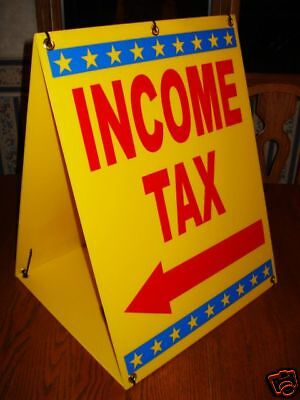 INCOME TAX Sandwich Board Sign 2-sided A-Frame Kit NEW