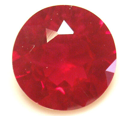 15 mm 15 cts Round cut Diffusion lab created Ruby