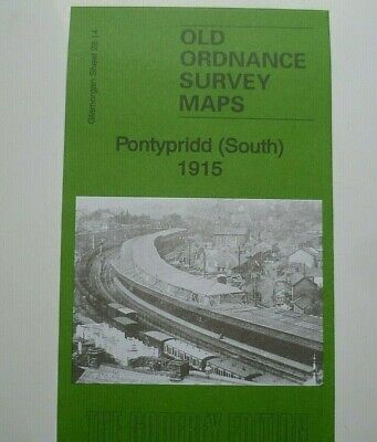 Old Ordnance Survey  Detailed Map Pontypridd (South) Glamorgan  1915 S28.14