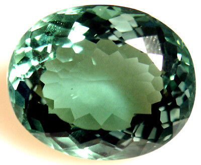 32.85 cts 23x19 mm Oval Green Cultured Quartz