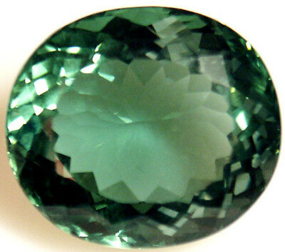 18.5 cts 19x16 mm Oval Green Cultured Quartz
