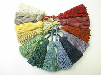 Turkish cotton key tassels cushion blind fabric trim trimming 8 + 5cm loop aprox