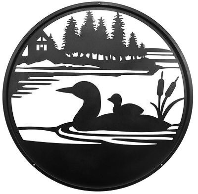 SWEN Products LOON DUCK Steel Scenic Art Wall Design