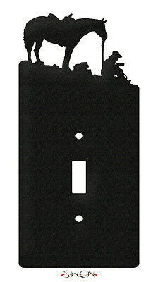 COFFEE BREAK COWBOY Light Switch Plate Cover ~NEW~