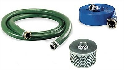 "2"" Trash Pump Suction Hose Kit 100Ft Discharge Pin Lug Kit #104"