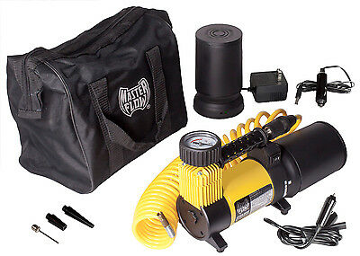 MasterFlow Rechargeable Air Compressor for Motorcycles, SUV, ATV ,Cars & Trucks