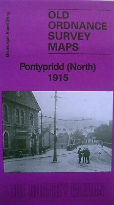 OLD Ordnance Survey Map Pontypridd North Glamorgan 1915 Sheet 28.10 Brand New