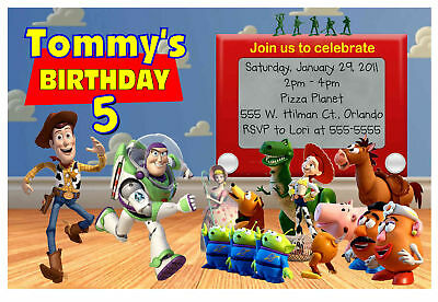 TOY STORY BIRTHDAY PARTY INVITATIONS with or w/o photo