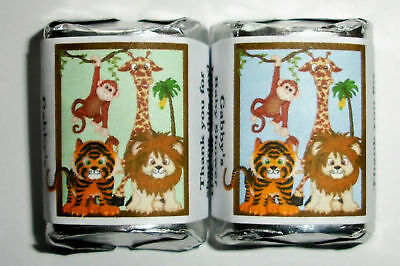120 Jungle Baby Shower Favors Candy Wrappers Labels